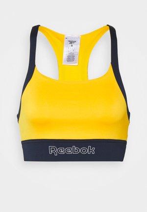 PIPING PACK BRALETTE - Light support sports bra - semi solar gold