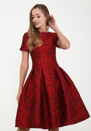 KRISTI - Day dress - schwarz, rot