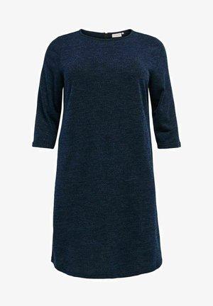 ONLY CARMAKOMA KLEID KNIELANGES CURVY - Jumper dress - mood indigo