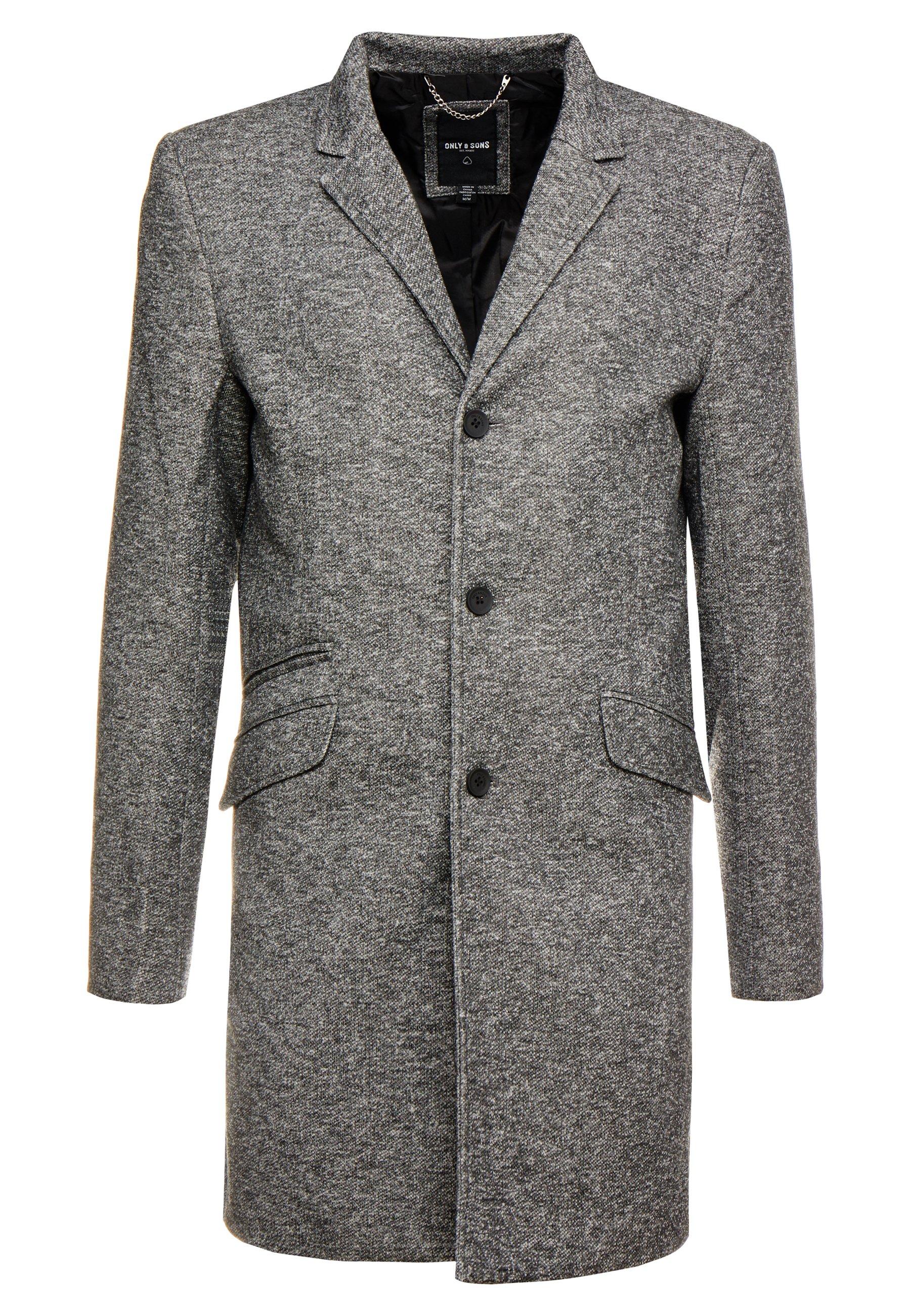 ONSJULIAN KING Halflange jas dark grey melange