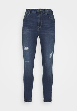 VMSOPHIA SHAPE UP ZIP - Jeans Skinny Fit - medium blue denim