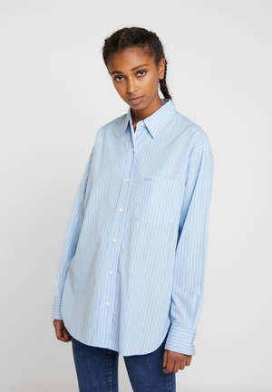 Button-down blouse - adelia stripe powder blue