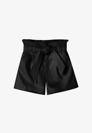 MIT GÜRTEL  - Pantalon classique - black