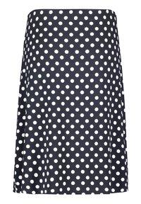 Betty Barclay - MIT PUNKTEN - A-line skirt - dunkelblau/weiß - 4