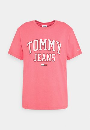 COLLEGIATE LOGO - T-shirt z nadrukiem - glamour pink