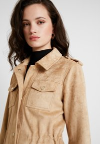 River Island - ARMY JACKET - Faux leather jacket - sand - 3