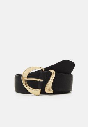 PCLEONA WAIST BELT - Pásek - black/gold-coloured