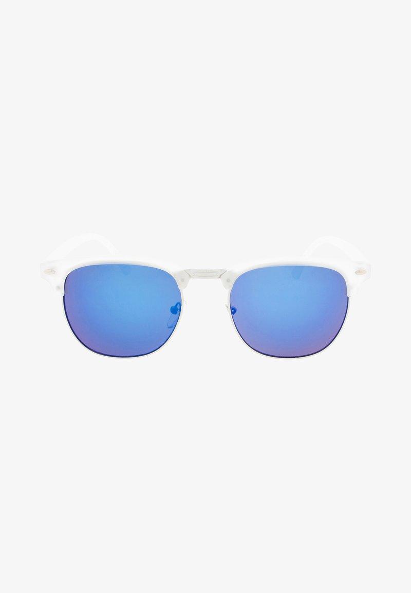 Icon Eyewear - CAIRO - Sluneční brýle - matt transparent / blue lens