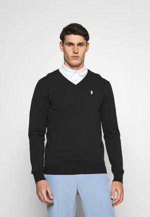 CLASSIC V NECK - Stickad tröja - black