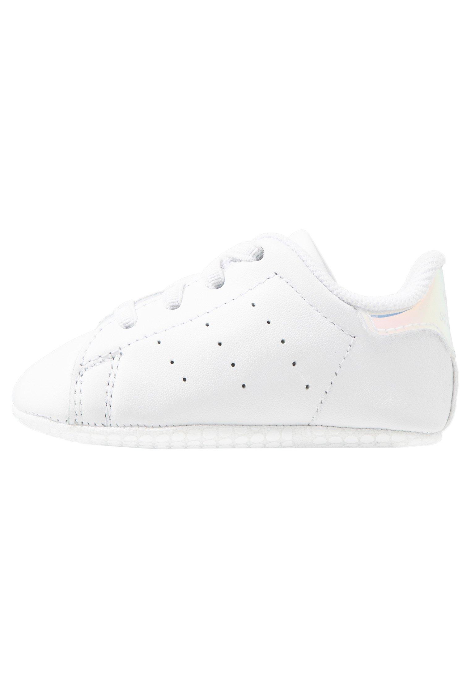 STAN SMITH CRIB - Babyschoenen - footwear white/silver metallic