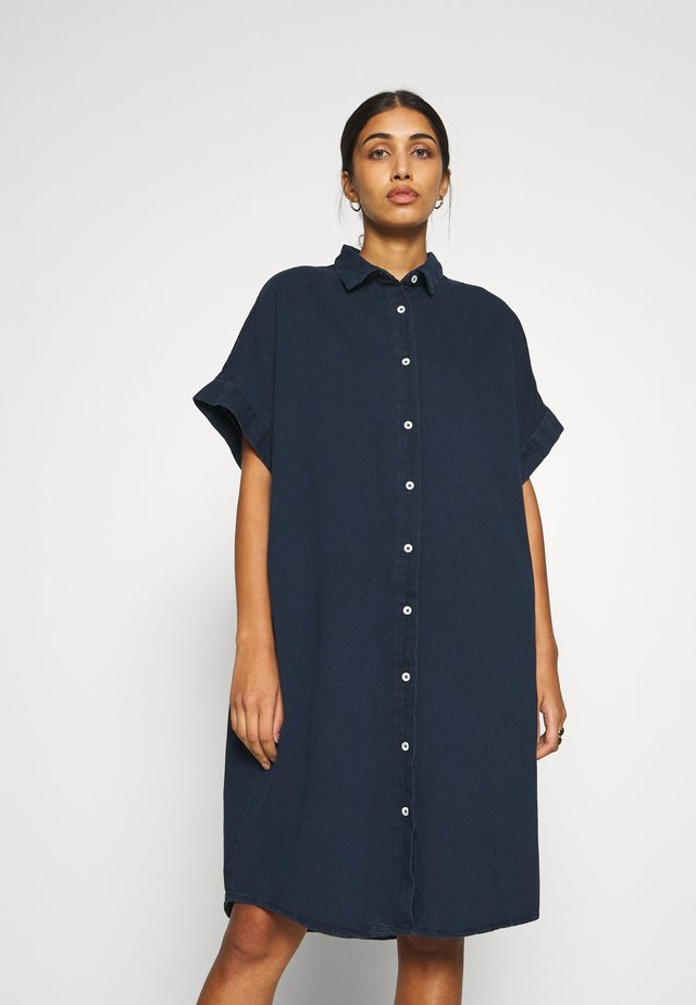 MOLLY DRESS - Denim dress - blue