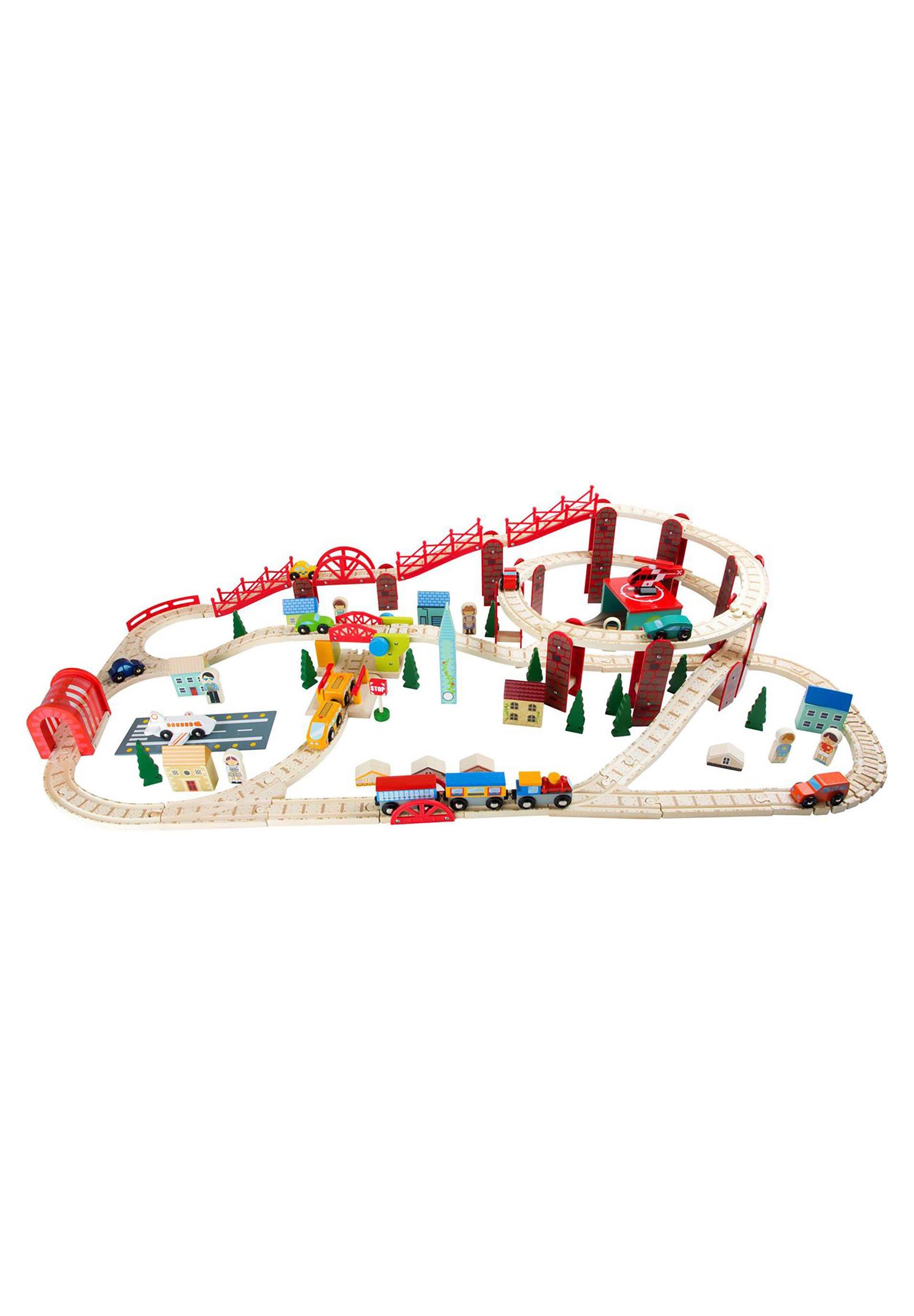 Kinder Holzeisenbahn set Meine Stadt - Spielzeugset Züge