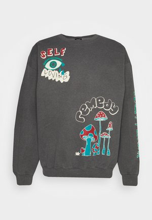 REALITY BREAK UNISEX - Sweatshirt - washed black