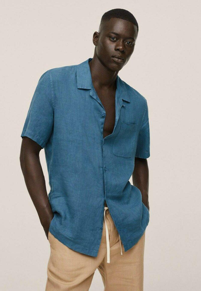 Mango - BOWLING REGULAR-FIT  - Camicia - blå