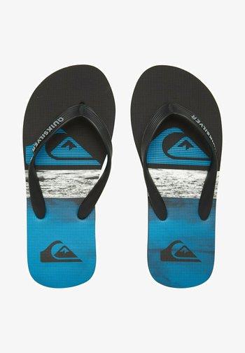 T-bar sandals - black/blue/black