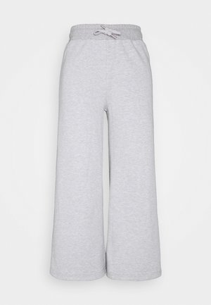 Wide leg cropped Joggers - Tracksuit bottoms - mottled light grey