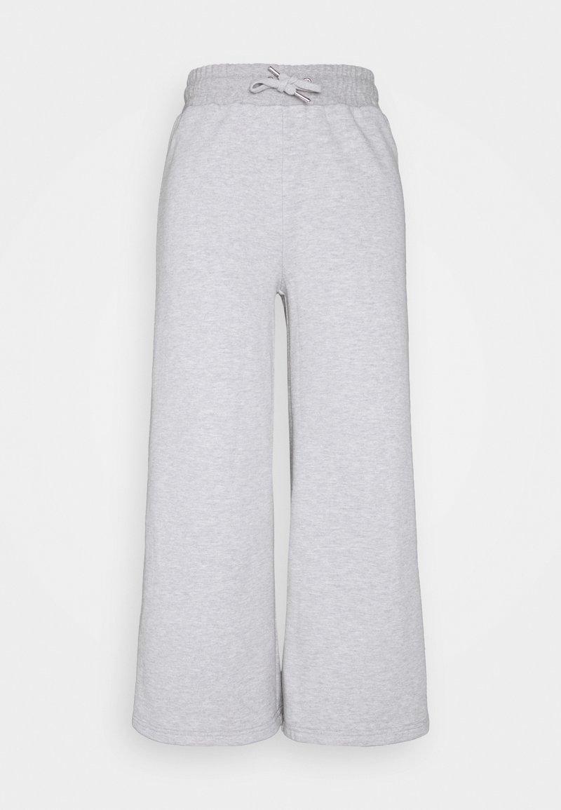 Even&Odd - Wide leg cropped Joggers - Tracksuit bottoms - mottled light grey