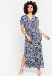 LolaLiza - WITH BOTANICAL PRINT - Maxi dress - navy blue - 0