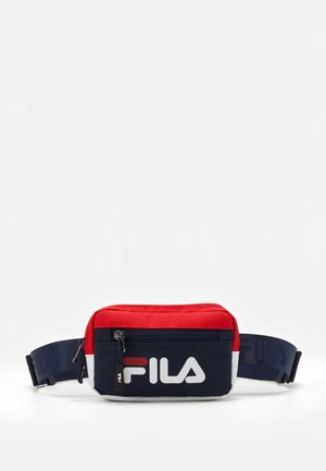 SPORTY BELT BAG - Ledvinka - black iris-true red-bright white