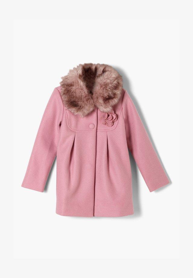 MIT WEBPELZ-BESATZ - Winter coat - light pink