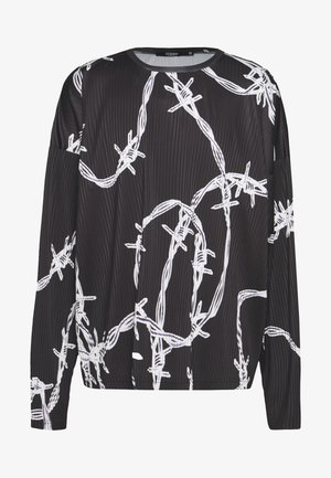BARBED WIRE PLISSED - Longsleeve - black