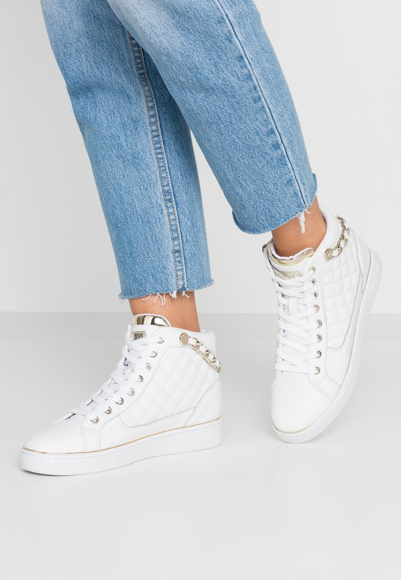 Guess - BRODEE - Sneaker high - white/gold