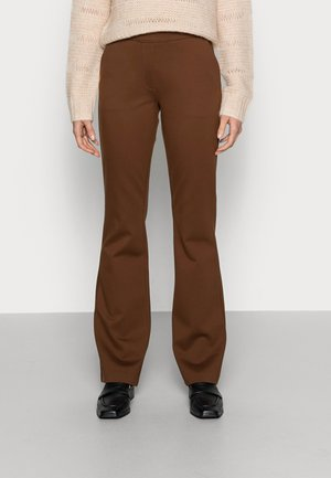 TANNY FLARE PANTS - Trousers - pecan