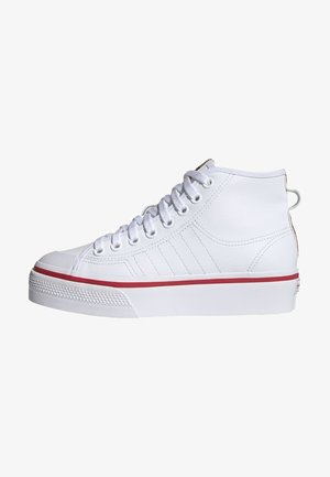 NIZZA PLATFORM ORIGINALS VULCANIZED SHOES HIGH - Trainers - ftwr white/glory red/core black