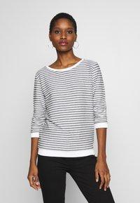 TOM TAILOR DENIM - STRIPED - Sweatshirt - white - 0