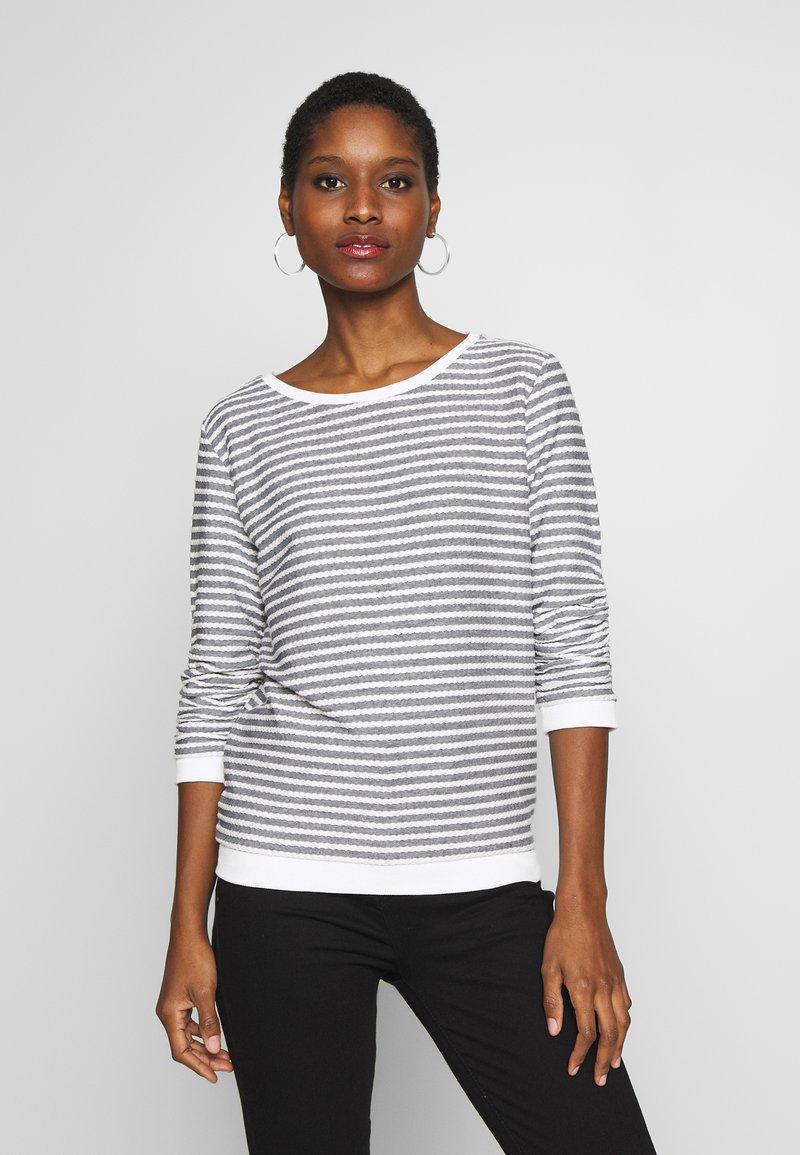 TOM TAILOR DENIM - STRIPED - Sweatshirt - white