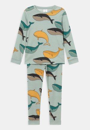 MINI WHALE UNISEX - Pyjama set - light aqua