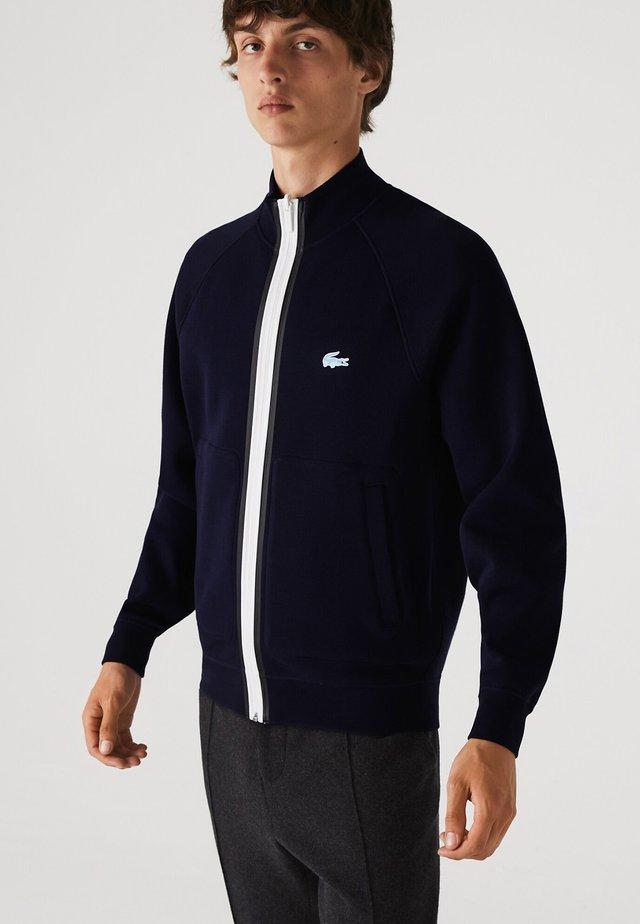 HOMME SH4187 - veste en sweat zippée - bleu marine / bleu