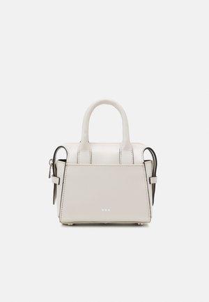 CROWN MINIATURE BAG - Taška spříčným popruhem - off white