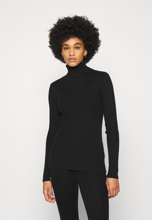HIGH NECK - Strikkegenser - black