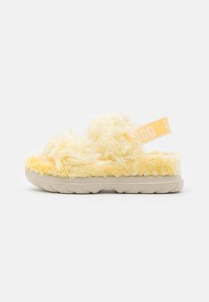 FLUFF SUGAR  - Sandalen met plateauzool - yellow
