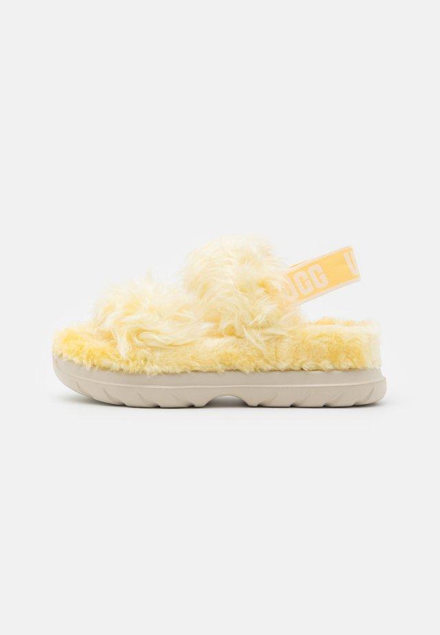 FLUFF SUGAR  - Plateausandalette - yellow