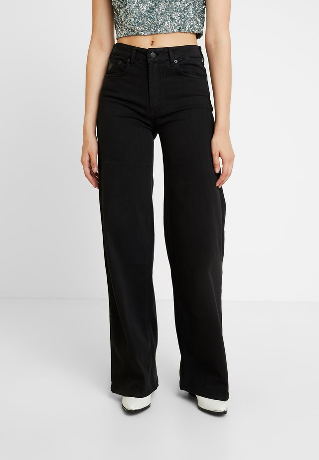 PALAZZO - Flared Jeans - black