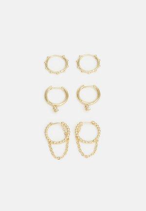 3 PACK - Korvakorut - gold-coloured