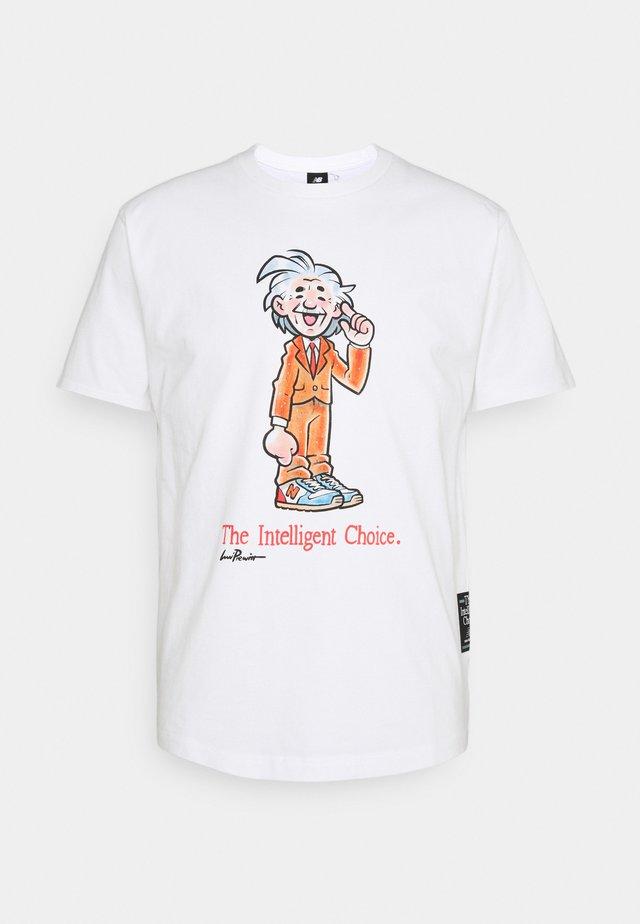 ATHLETICS LEVITZO SCIENTIST TEE - Camiseta estampada - white