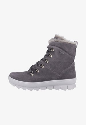 Lace-up ankle boots - gray