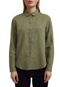Esprit - CORE - Button-down blouse - light khaki - 3