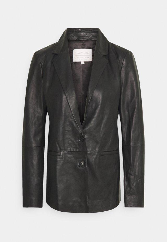 FAISA - Veste en cuir - black