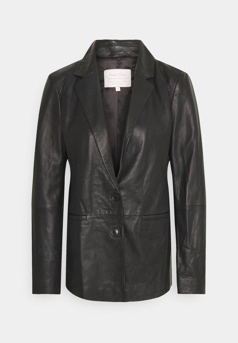 Part Two - FAISA - Leather jacket - black