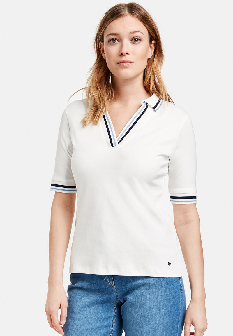 Gerry Weber - MIT KONTRASTKANTEN - Polo shirt - off white