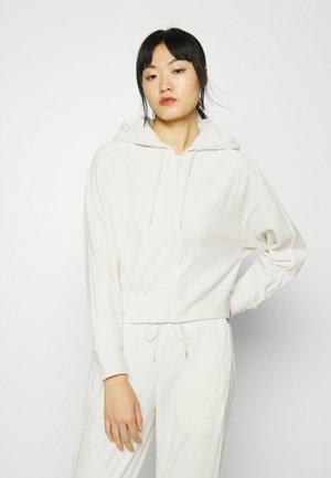 ICONIC FULL ZIP HOODIE - Zip-up sweatshirt - ivory glow
