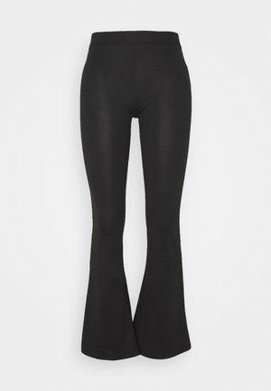 ONLFEVER STRETCH FLAIRED PANTS - Trousers - black