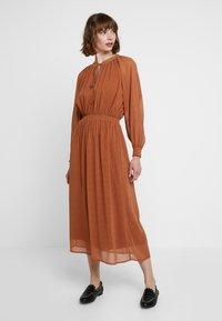 mint&berry - Maxi dress - white/ brown - 0