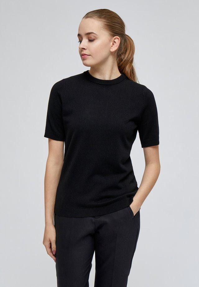 PAMELA TEE - T-shirt - bas - black