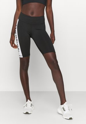 LINEAR LOGO SHORT - Leggings - black