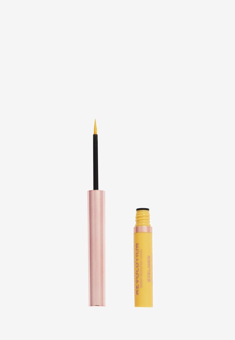 Make up Revolution - REVOLUTION NEON HEAT COLOURED LIQUID EYELINER - Eyeliner - lemon yellow